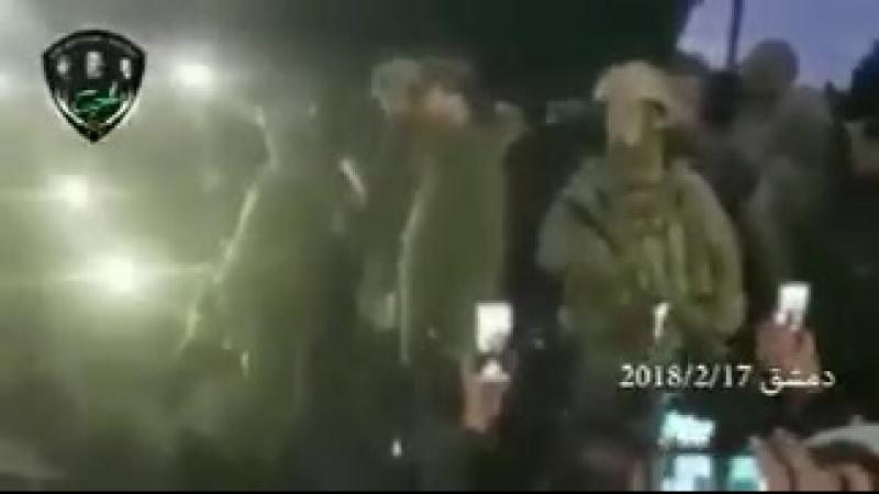 Генерал Сухейль командир Сил Тигра с телохранителями из российских ССО