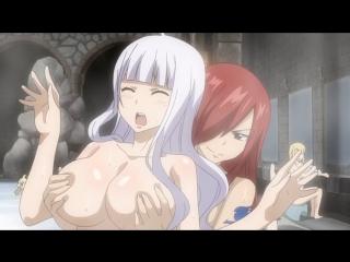Натцу с девченками в сауне из Хвост Феи(Fairy Tail) OVA 8  (аниме эротика, этти, ecchi, hentai, хентай)