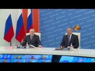 В.В.Жириновский посетил Центр МЧС России в Москве