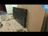 Разрушенная взрывом квартира в Москве. LIVE
