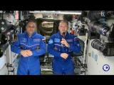 Поздравление космонавтов с Новым 2018 годом