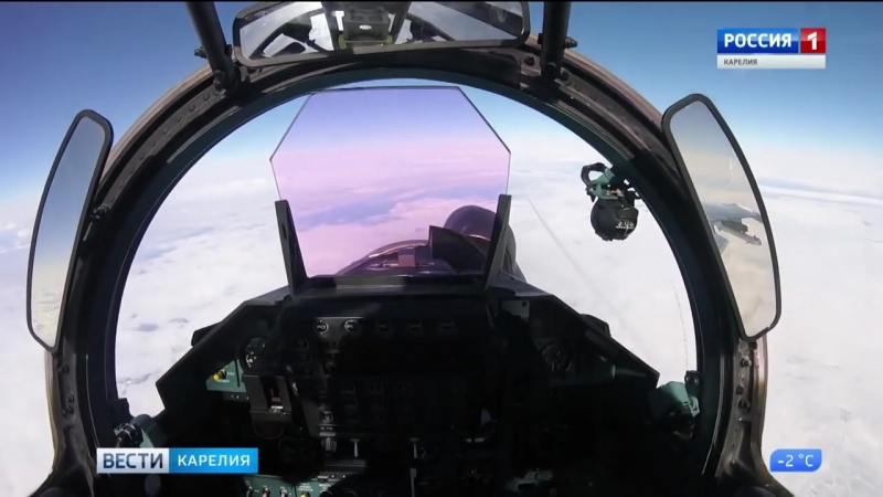 Учения истребительной авиации Ладога 2018