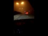 Туман на трассе в Тбилиси