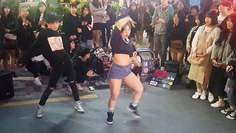 [레드크루☆더데이]효린(HYORIN)☆달리(DALLY)☆COVER 홍대버스킹 20180427금 [HONGDAE STREET DANCE KPOP IN PUBLIC]