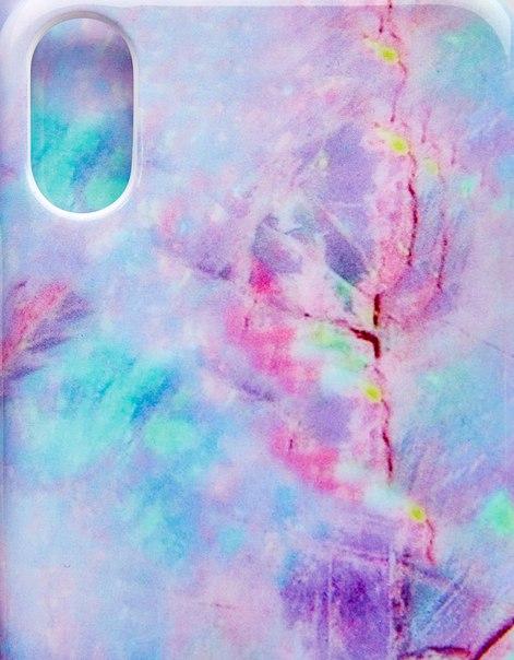 Чехол с мраморным эффектом для iPhone X