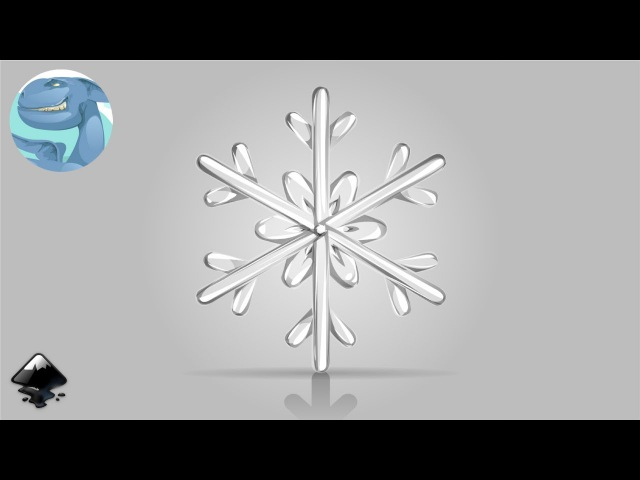 How to draw a snowflake in Inkscape