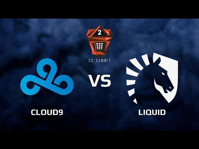 Cloud9 vs Liquid, map 4 overpass, Grand final, cs_summit 2
