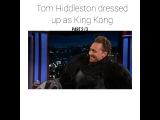 "Tom Hiddleston❤️ on Instagram: ""Tom Hiddleston dressed up as King Kong at Jimmy Kimmel Show ?? . . . #tomhiddleston #tom #kingkong #monkey #jimmyki..."
