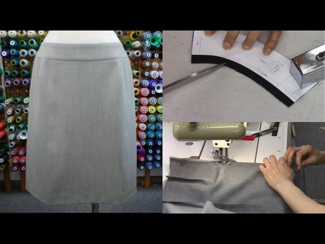 スカートの作り方・縫い方 Part2 「縫い代折り、ヨーク、ダーツ、向こう