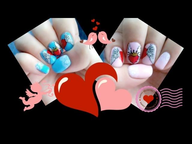 💖Любовь окрыляет 🕊 дизайн на ноготках 💅 💖Love inspires 🕊 design of nails 💅
