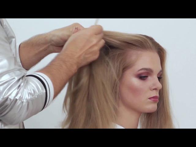 Причёска от школы Руслана Татьянина в стиле Одри