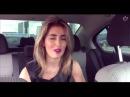Девушка круто читает рэп в машине OLISHA,красивая девушка классно читает реп,класс ...