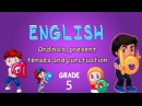 English Grade 5 Ordinals present tenses and punctuation