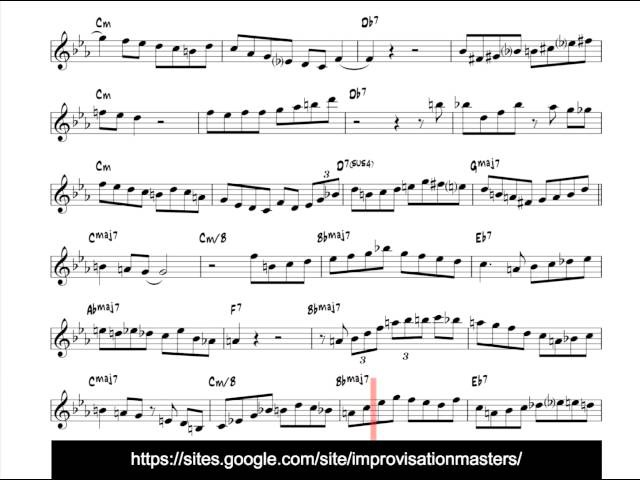 Tom Harrell, Mixed Roots transcribed jazz trumpet solo (Bb version)