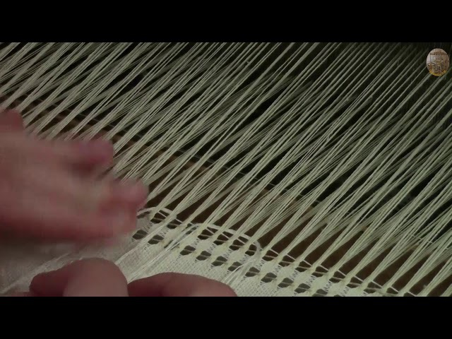 Скатерть в технике ажурного и ремизного ткачества