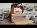 Canoe milling with Kuka robot