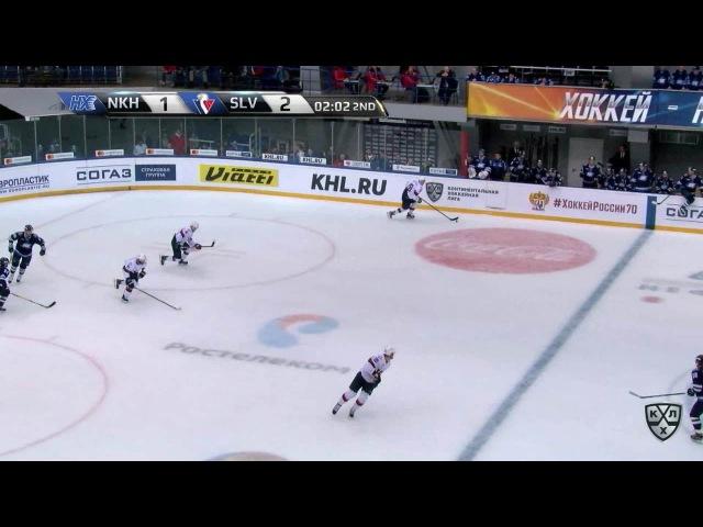 Моменты из матчей КХЛ сезона 16/17 • Гол. 1:3. Павол Скалицки (Слован) совершил индвидуальный проход 19.01