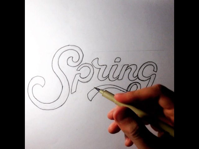 Spring Hand-Lettering by Vlad Brise