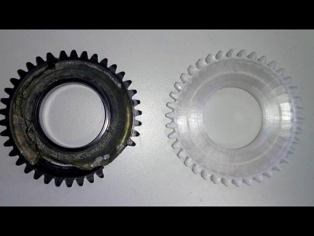 Печать шестерни на 3D принтере