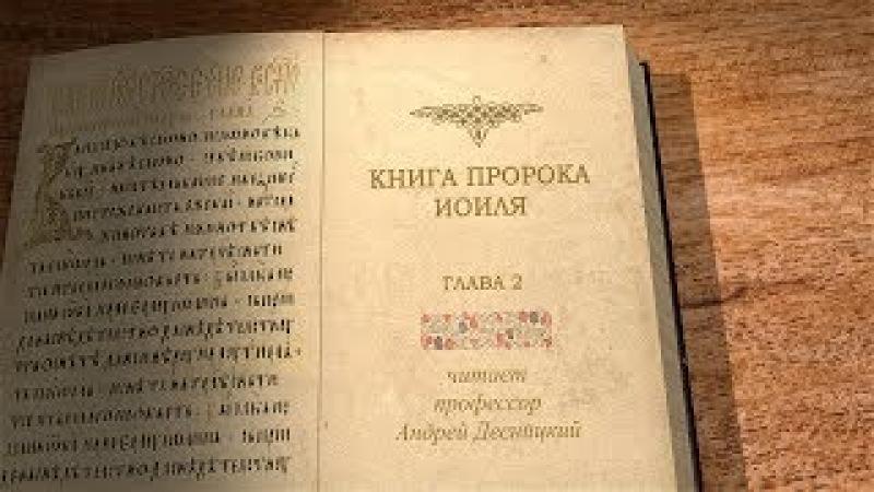 Пророк Иоиль, глава 2. Профессор Андрей Десницкий