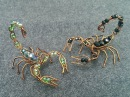 Wire scorpion - DIY wire jewelry - Halloween jewelry idea 270
