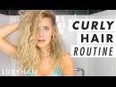 Easy Curly Hair Routine Wet to Dry Luxy Hair