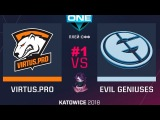 VP vs EG RU #1 (bo3) ESL One Katowice 2018 Major PlayOFF 24.02.2018