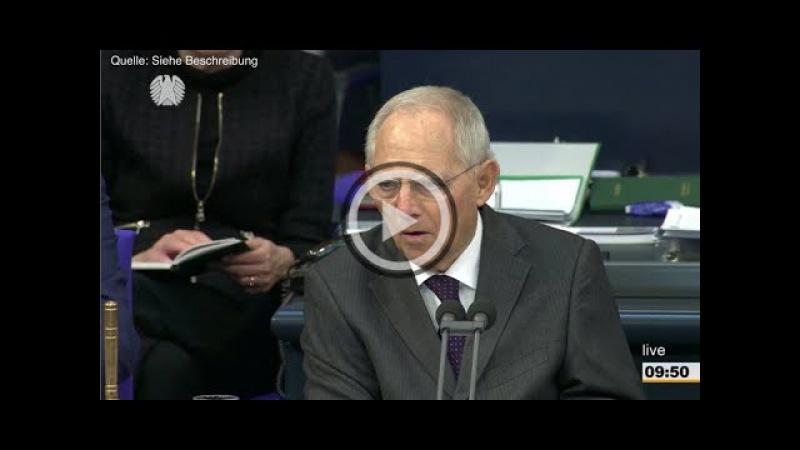 Nach AfD-Eklat im Bundestag gerät Schäuble nun ins Zentrum der Kritik