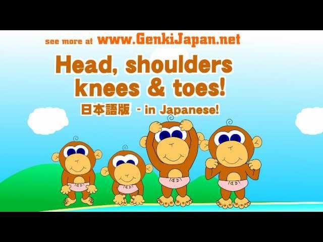 Head, Shoulders, Knees Toes in Japanese!