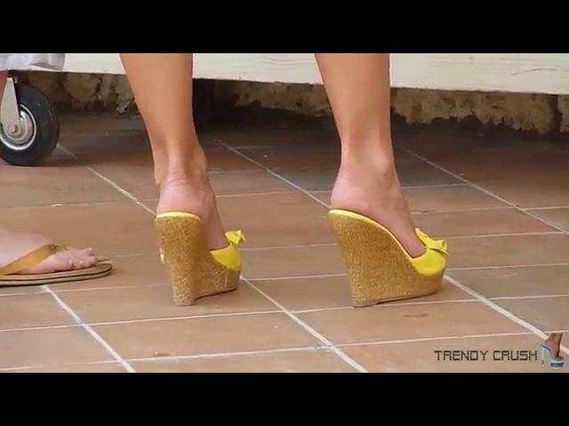 High Heels Wedge 022v T12 Black Enamel 002