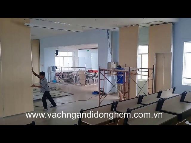 Vachngandidonghcm.com.vn - Thi công vách ngăn di động cho hội trường đại học Nguyễn Tất Thành, Q12