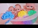 Куклы Пупсики Купаются В Ванной Беби Бон Поют Песенку про Цветные мочалки. Зырики ТВ Игрушки