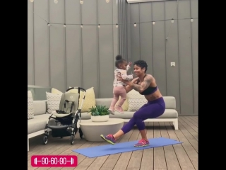 90-60-90 | Тренируемся с ребеночком