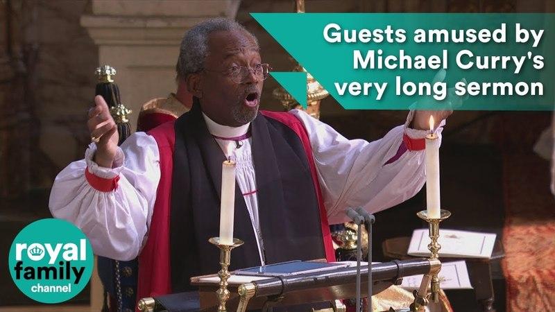 Королевская свадьба гости удивлены очень долгой проповеди Майкла Карри