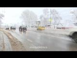 Последствия снегопада в Липецке