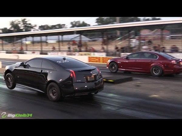 Killer Nitrous Cadillac Wheelies to low 9s @ LS Fest!