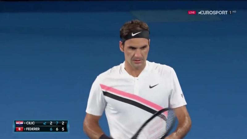 Roger Federer vs Marin Cilic FULL MATCH Australian Open 2018 PART 3