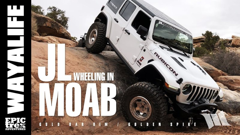 MOAB IT STARTS AGAIN - Part 1 JEEP JL WRANGLER on Gold Bar Rim Golden Spike Trail