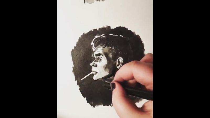 Drawing Tommy Shelby - artist lojok.deviantart.com @kate_gandrabura
