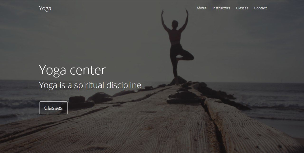 Yoga center Landing Page Template