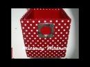 Caixa de papelão coberta com tecido -Diy