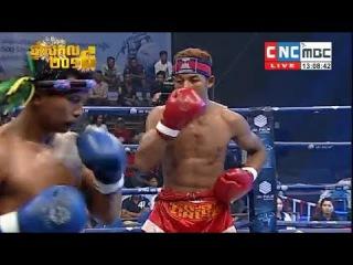 Veng Sopheak vs Lomnav(thai), Khmer Boxing CNC 10 Dec 2017, Kun Khmer vs Muay Thai