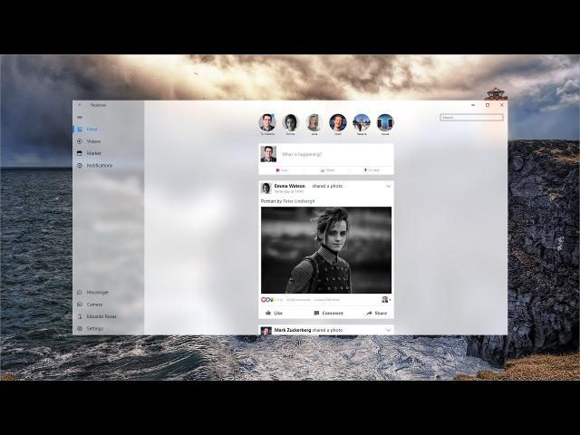 Facebook Redesign with New Windows Fluent Design System - Designed with Adobe XD - Speedart