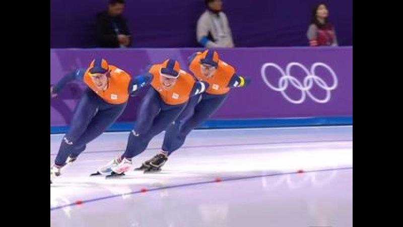 Конькобежный спорт. Мужчины. Командная гонка преследования. Квалификация