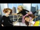 ПЕРВЫЙ УРОК В БАЛЕТНОЙ СТУДИИ Мультик Барби Школа Девочки Играют в Куклы