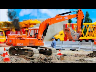 The Excavator - Construction Trucks Video for Kids - Real Diggers for children