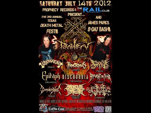 7-14-12 TXDM FEST III - PROPHECY - Tortured By Deceit (Raw Video)