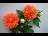ABC TV | How To Make Dahlia Paper Flower From Crepe Paper #2 - Craft Tutorial