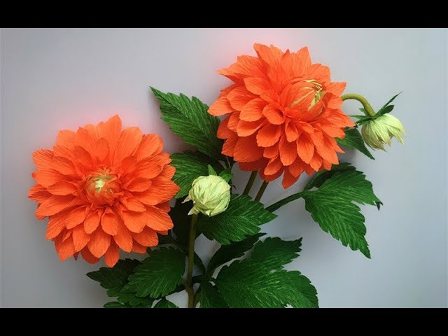 ABC TV | How To Make Dahlia Paper Flower From Crepe Paper 2 - Craft Tutorial