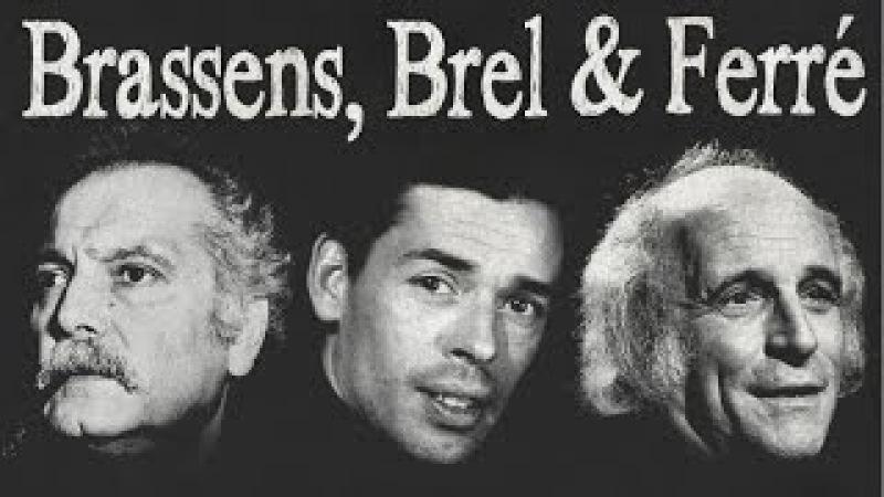 (182) Brassens, Brel Ferré - Les Poètes de la Chanson Française - YouTube